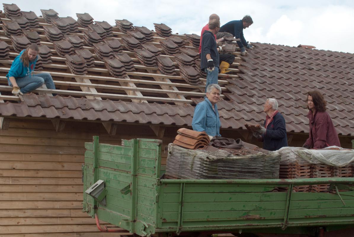 Ziegel für das Norddach
