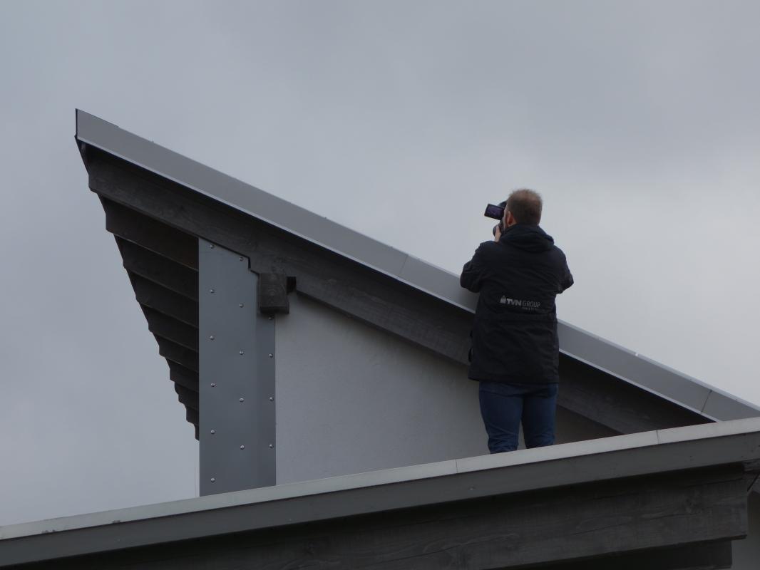 Blick über die  Dächer des NEZ.